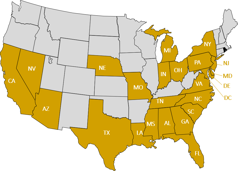 Chapter Locations Map_US NCBW Membership