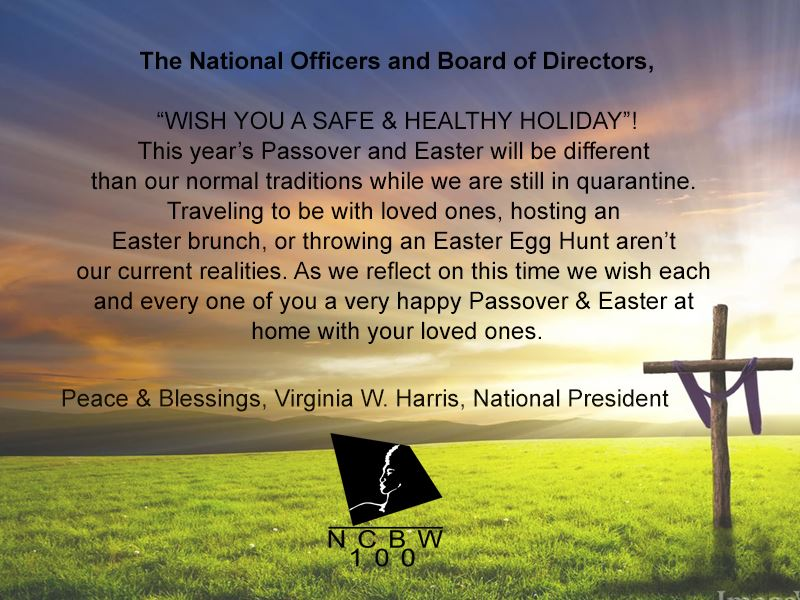 2020 NCBW Easter Message