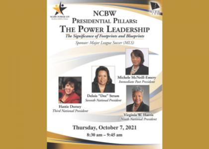 Presidential Pillars: NCBW Biennial Hybrid Conference